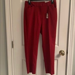 NWT-Express Publicist Red Ankle Stretch Dress Pant